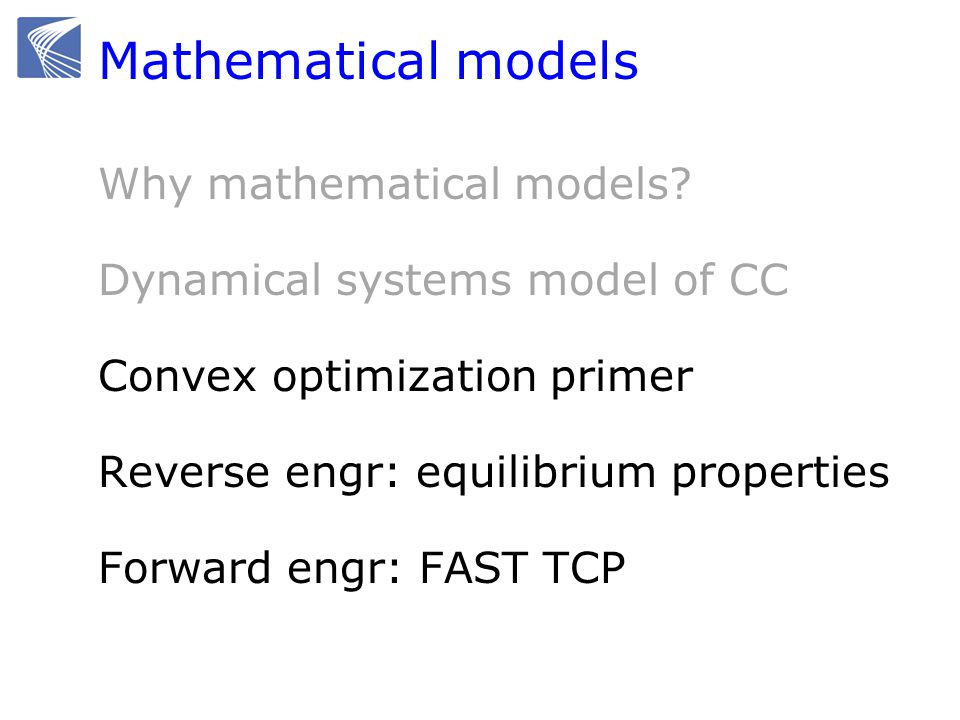 Mathematical models Why mathematical models.