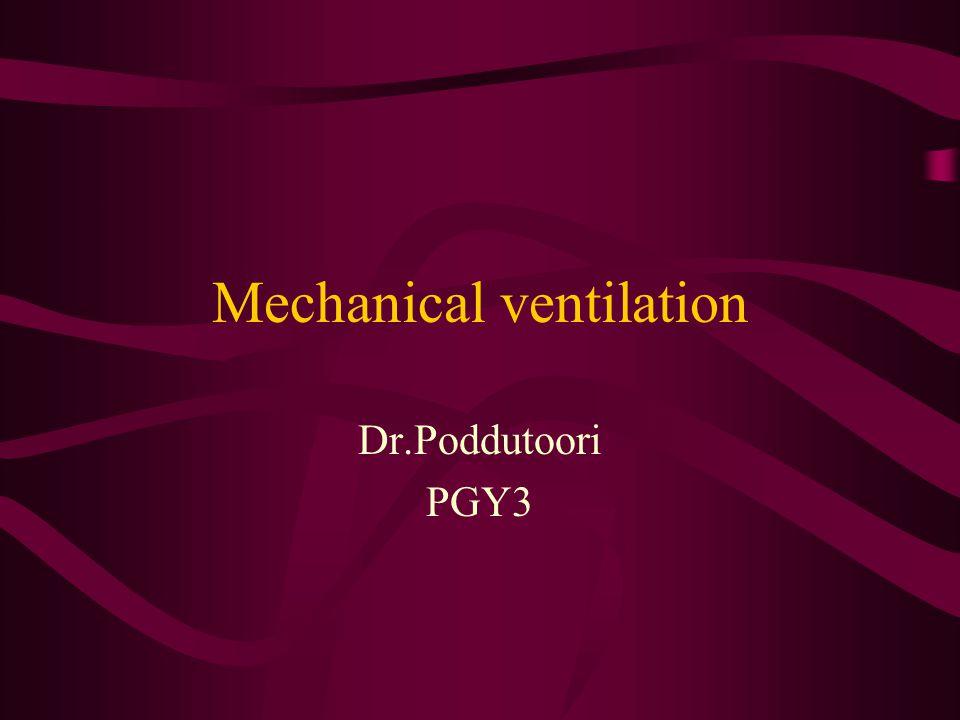 Mechanical ventilation Dr.Poddutoori PGY3