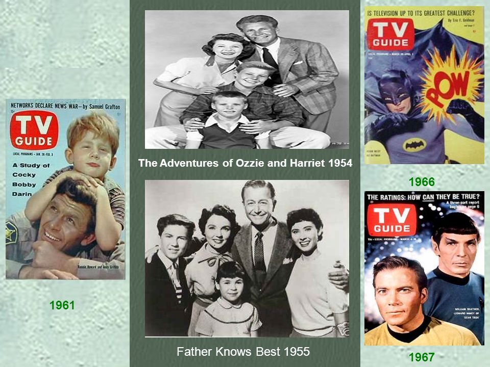 1966 1961 1967 The Adventures of Ozzie and Harriet 1954 Father Knows Best 1955