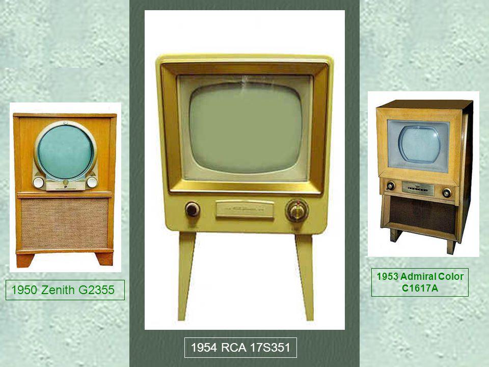1950 Zenith G2355 1953 Admiral Color C1617A 1954 RCA 17S351