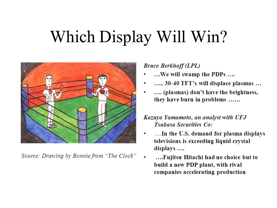 Which Display Will Win.Bruce Berkhoff (LPL) …We will swamp the PDPs ….
