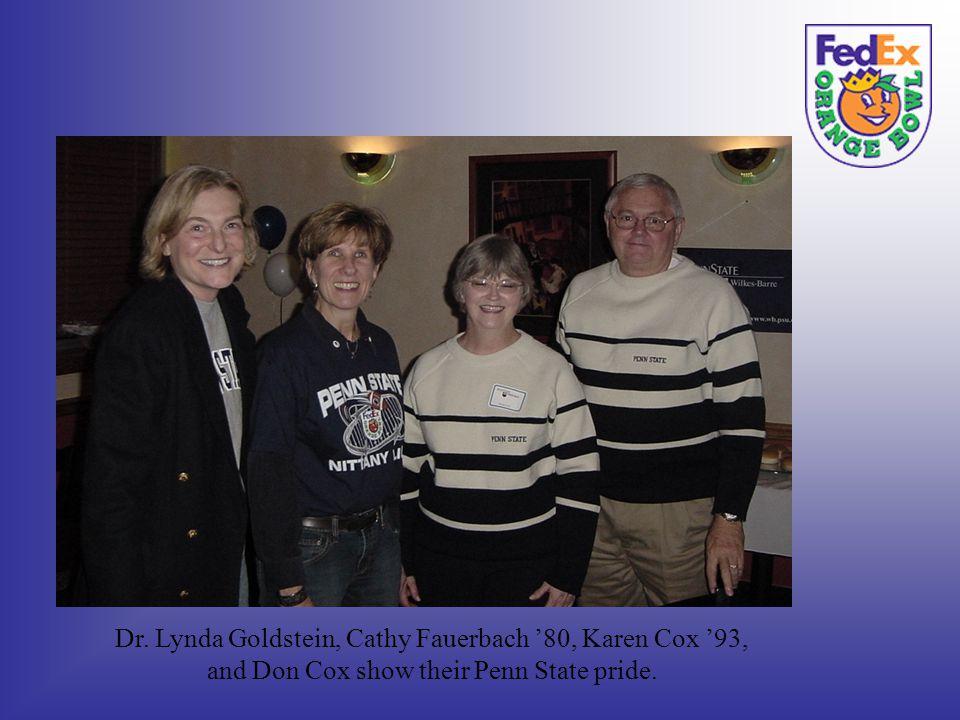 Dr. Lynda Goldstein, Cathy Fauerbach 80, Karen Cox 93, and Don Cox show their Penn State pride.