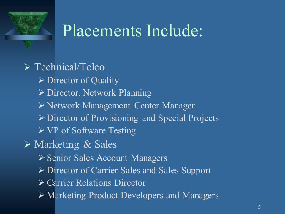 4 Clients Clients have included the following firms: