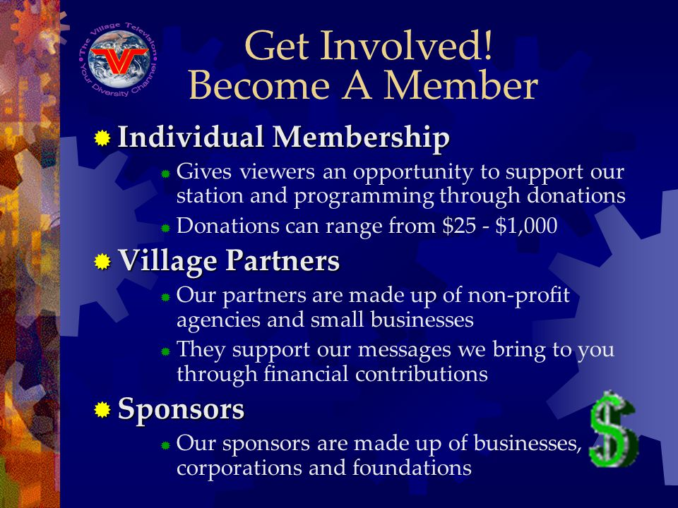 Become A Member Individual Membership Individual Membership Gives viewers an opportunity to support our station and programming through donations Dona