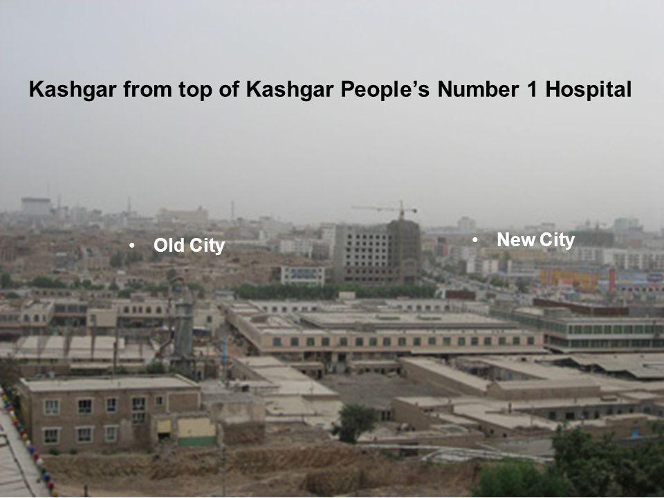 Kashgar from top of Kashgar Peoples Number 1 Hospital Old City New City