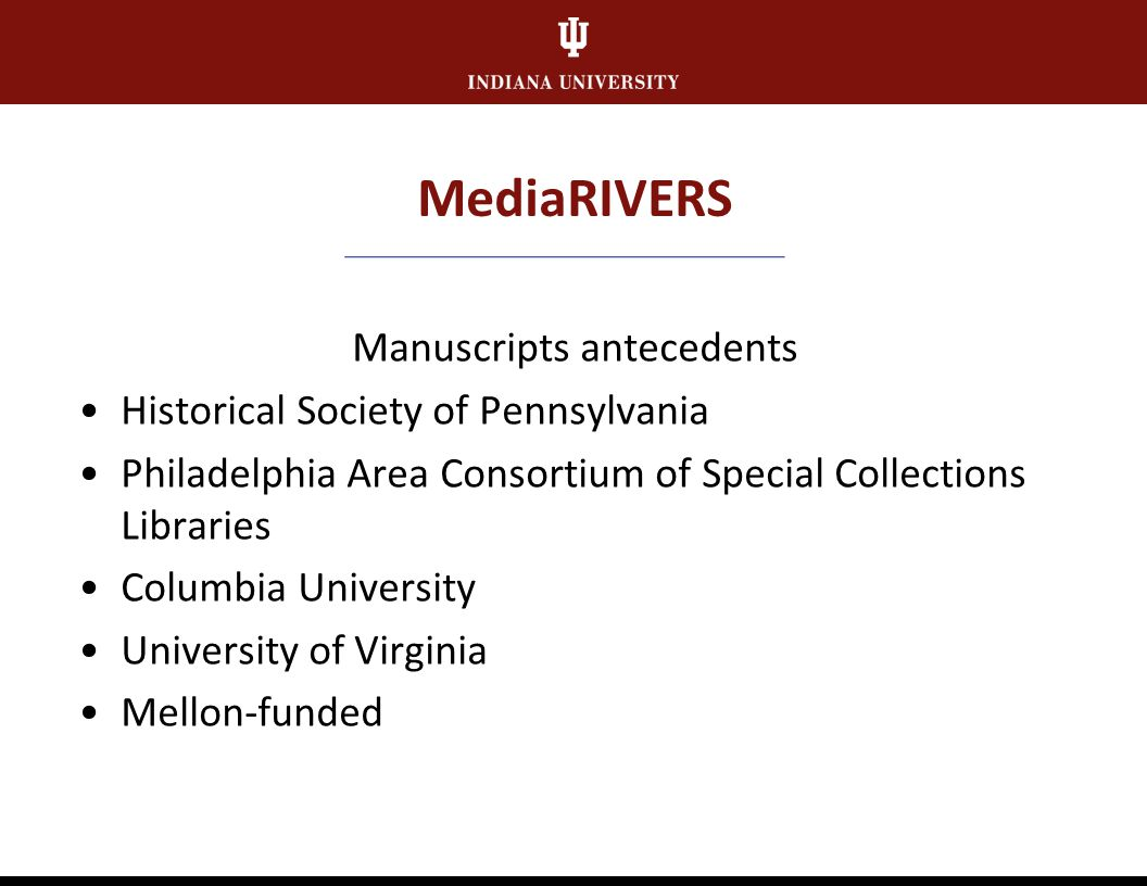 Research Value MediaRIVERS Points-based scoring system Benefits from curatorial-level knowledge and expertise