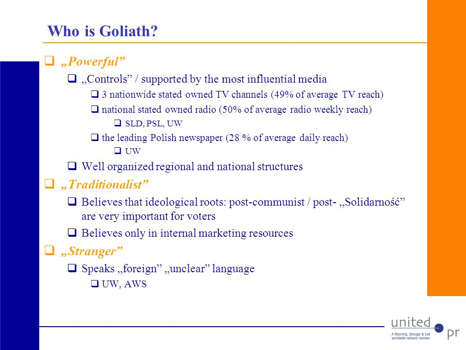Who is Goliath.
