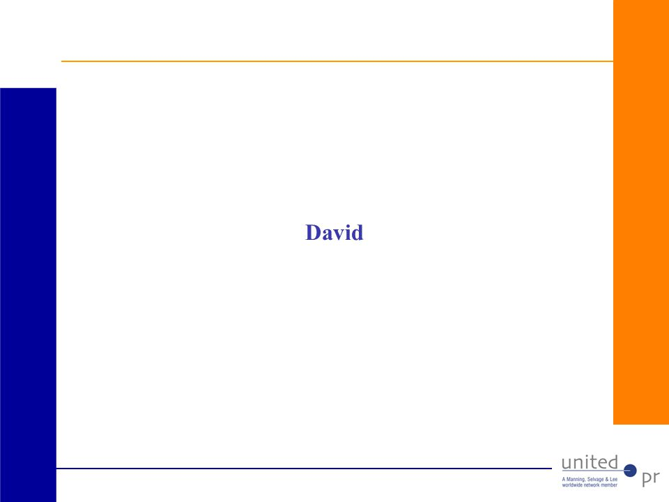 Who is David.
