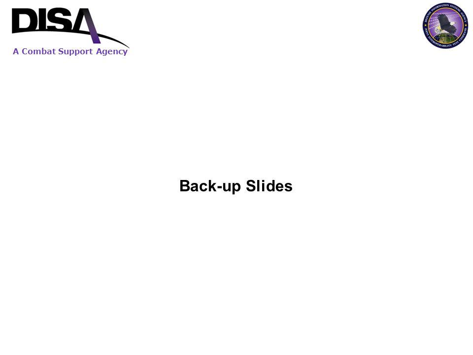 A Combat Support Agency Back-up Slides