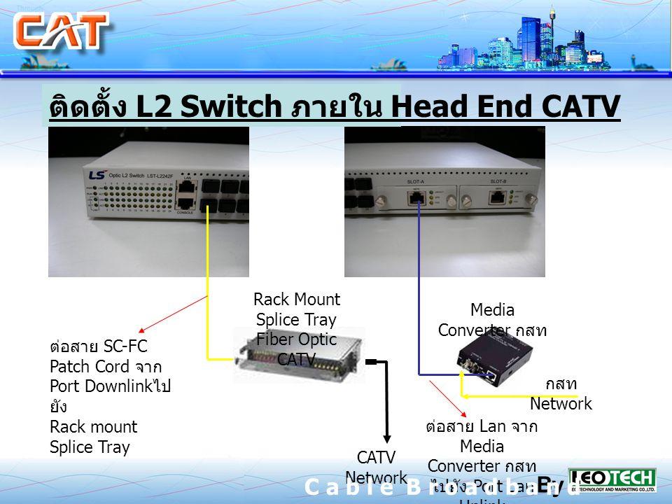 Media Converter Rack Mount Splice Tray Fiber Optic CATV L2 Switch Head End CATV Lan Media Converter Port Lan Uplink SC-FC Patch Cord Port Downlink Rac