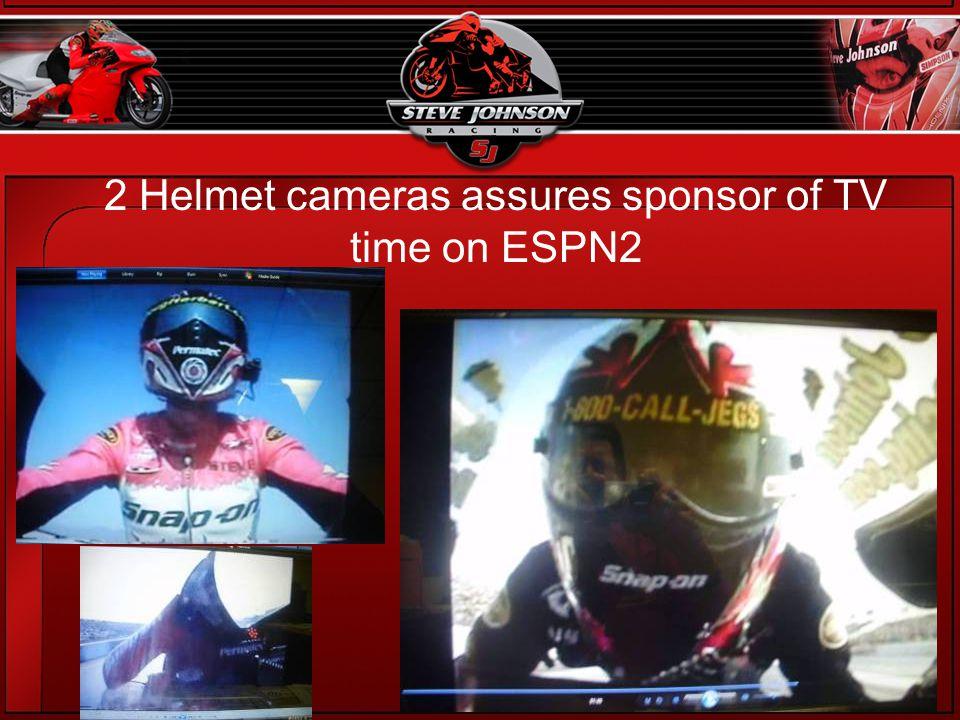 2 Helmet cameras assures sponsor of TV time on ESPN2
