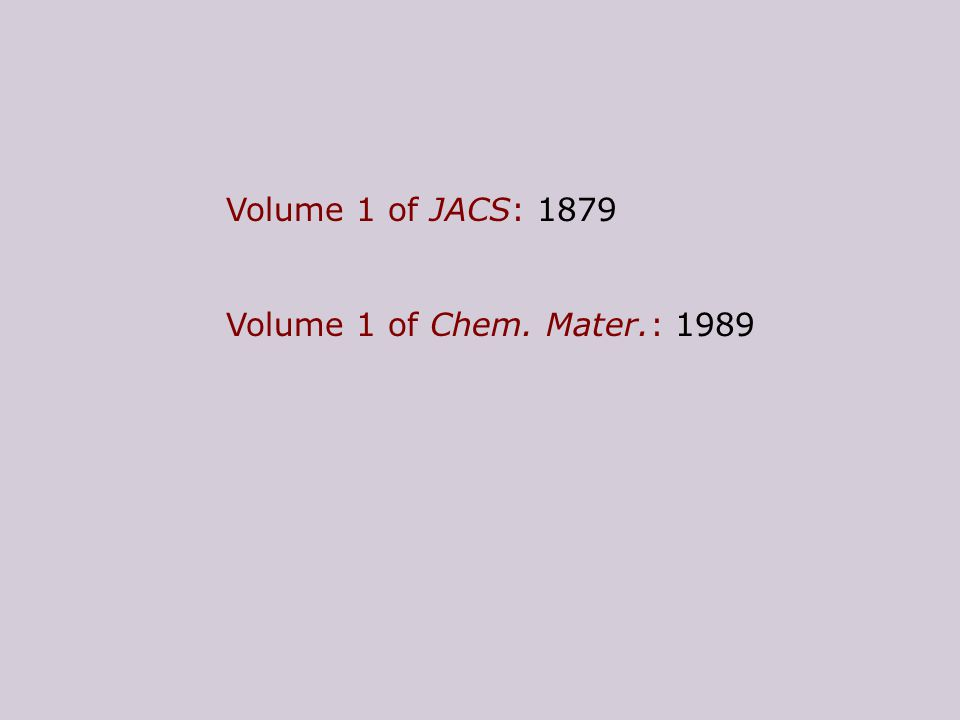 Take-home message Materials chemists: Dont ask what chemistry can do for you, but what you can do for chemistry!