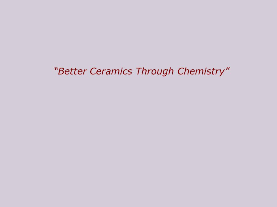 The motto of this lecture: # What has chemistry gained from sol-gel research # How do solid matrices affect a chemical reaction.