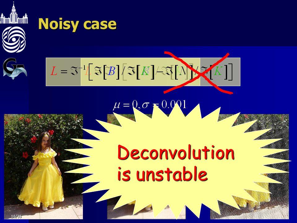 Noisy case Deconvolution is unstable 10/38
