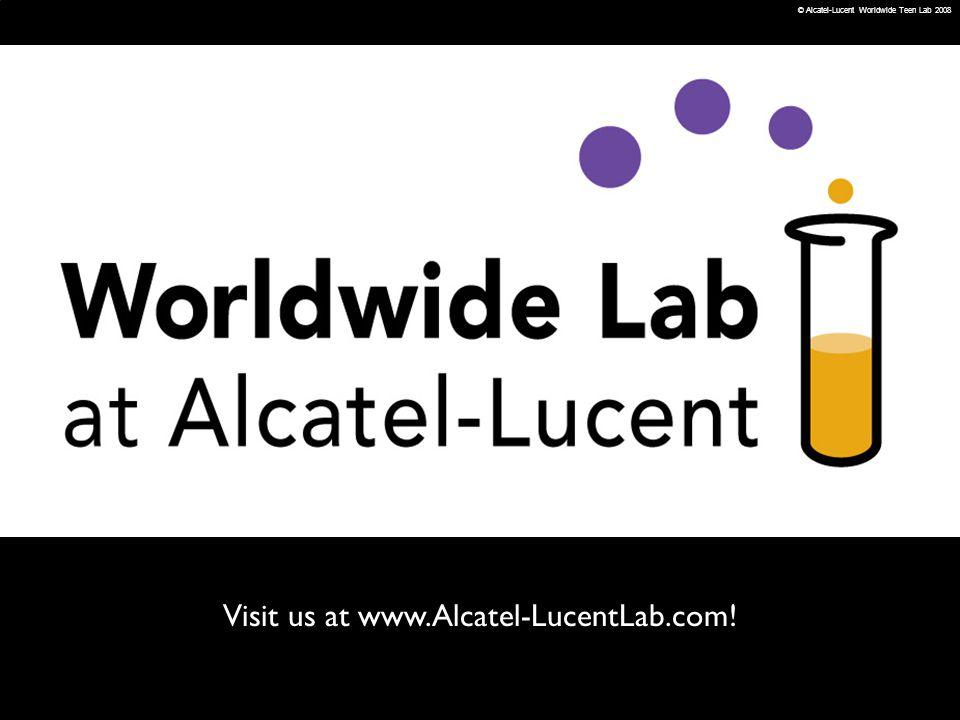 Visit us at www.Alcatel-LucentLab.com!