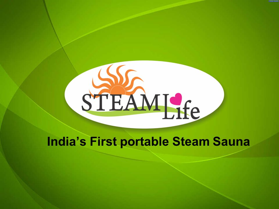 Indias First portable Steam Sauna