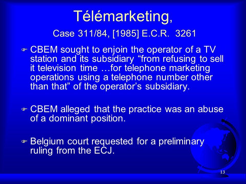 13 Télémarketing, Case 311/84, [1985] E.C.R.