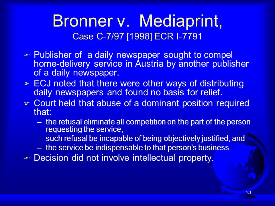 21 Bronner v.