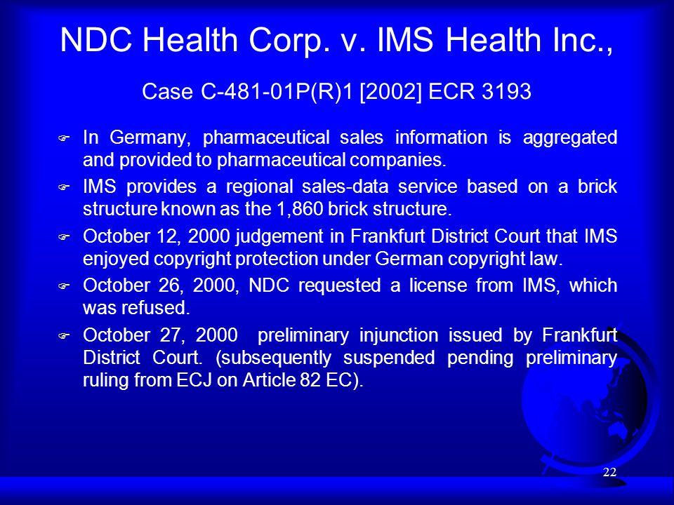 22 NDC Health Corp. v.