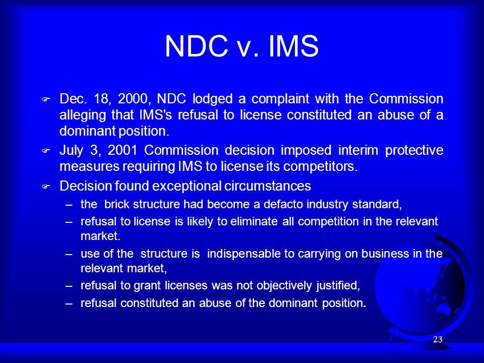 23 NDC v. IMS F Dec.