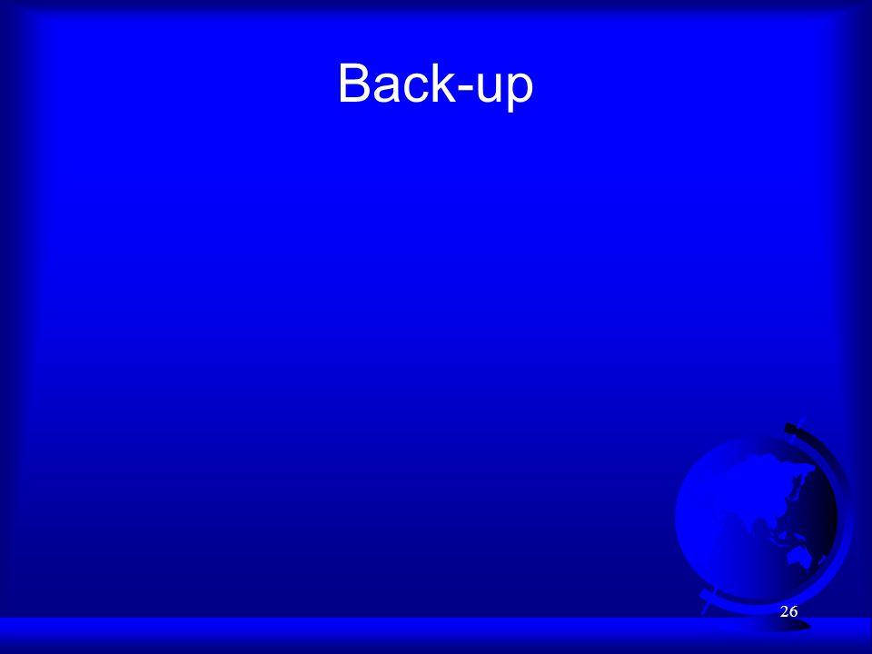 26 Back-up