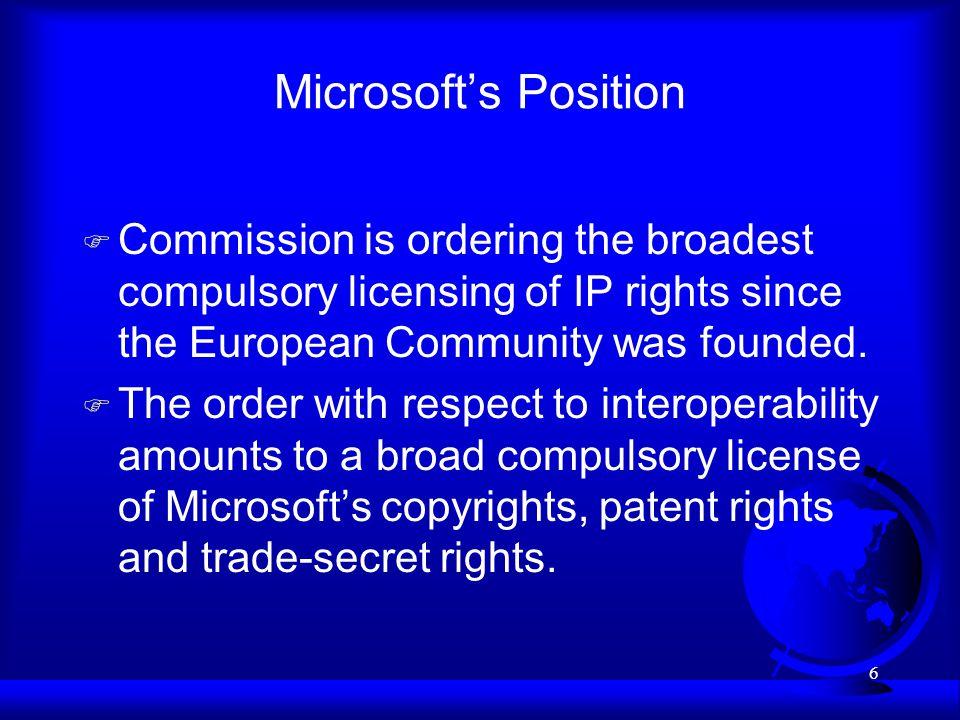 27 Focus of Presentation F EU Precedent on Compulsory Licensing F –Commercial Solvents –Télémarketing –Volvo v.