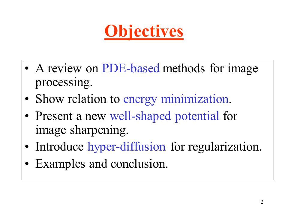 23 Other PDE-based Processes Coherence-enhanceing diffusion.