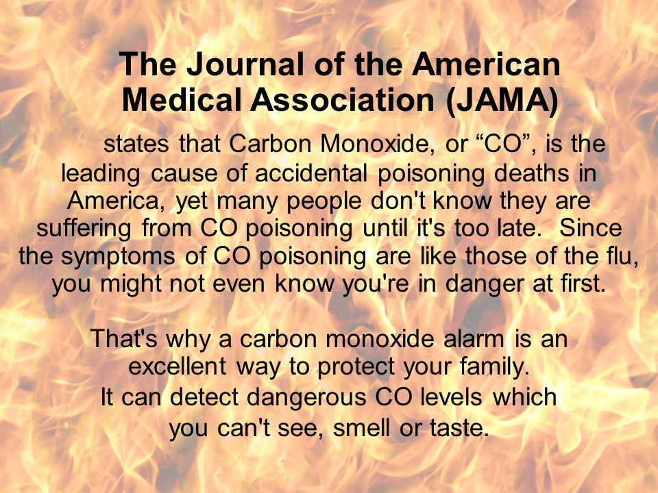 Carbon Monoxide (CO) Deaths in the U.S. Deaths due to toxic gases and/or oxygen deprivation, collectively called smoke inhalation, outnumber fire deat