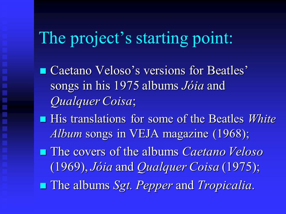 Gilberto Gil singing Domingo no Parque and Caetano Veloso interpreting Alegria, alegria at the popular TV Festivals in the 1960s.
