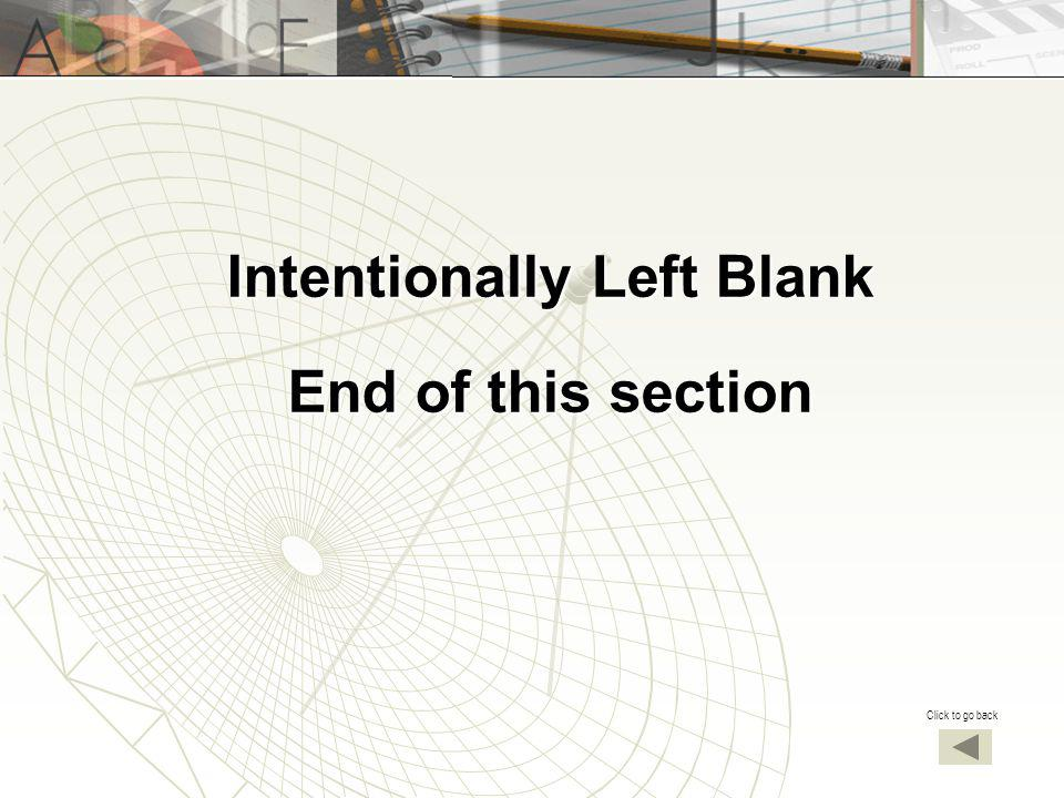Intentionally Left Blank End of this section Click to go back