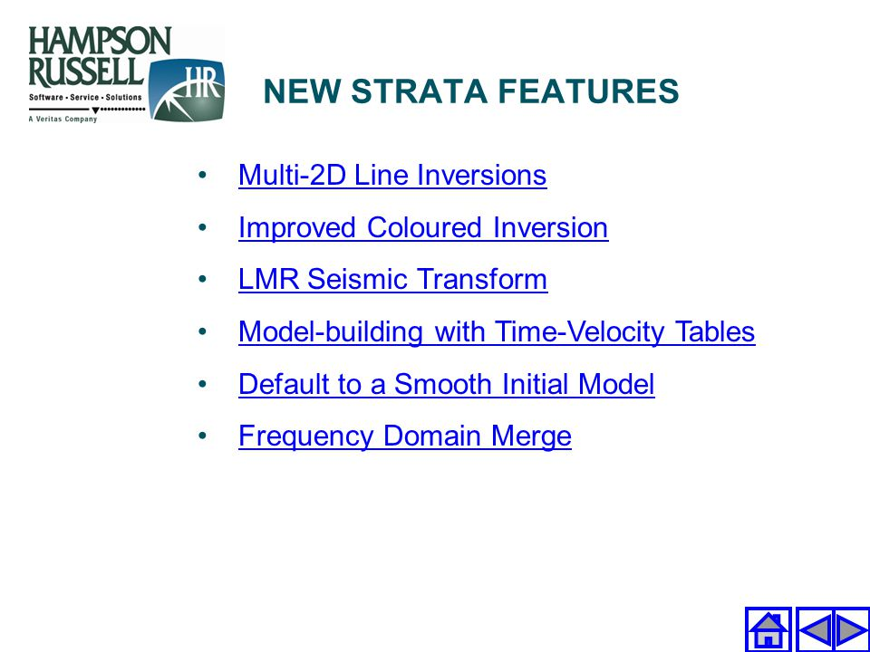 Multi-2D Line Inversions Improved Coloured Inversion LMR Seismic Transform Model-building with Time-Velocity Tables Default to a Smooth Initial Model