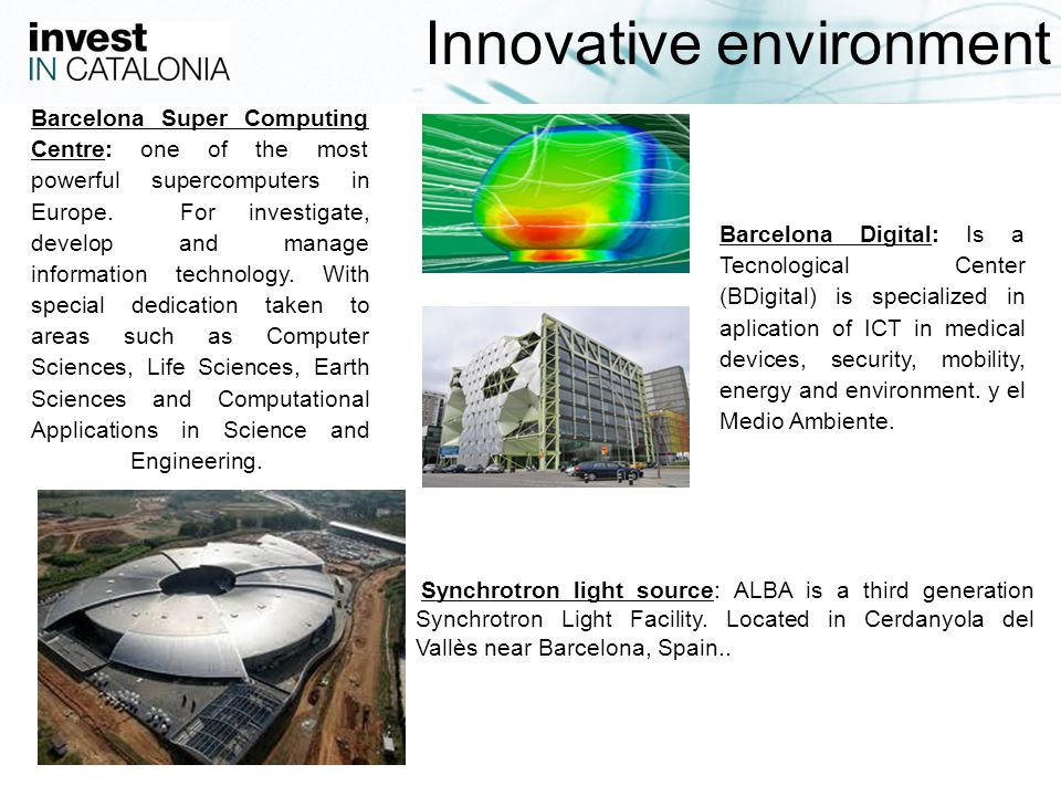 17 Synchrotron light source: ALBA is a third generation Synchrotron Light Facility.