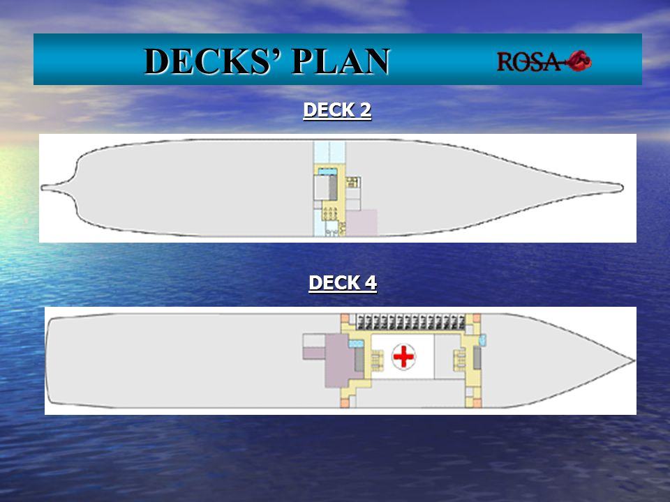 DECK 2 DECK 4 DECKS PLAN DECKS PLAN
