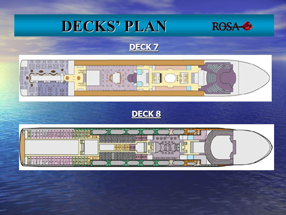 DECK 7 DECK 8 DECKS PLAN DECKS PLAN