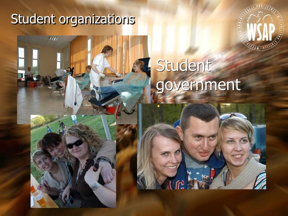 Student government Student organizations