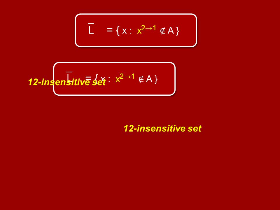 = { x : x 21 A } 12-insensitive set