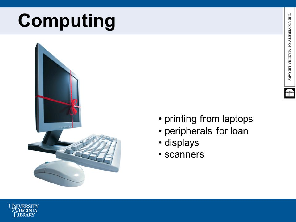 Computing printing from laptops peripherals for loan displays scanners
