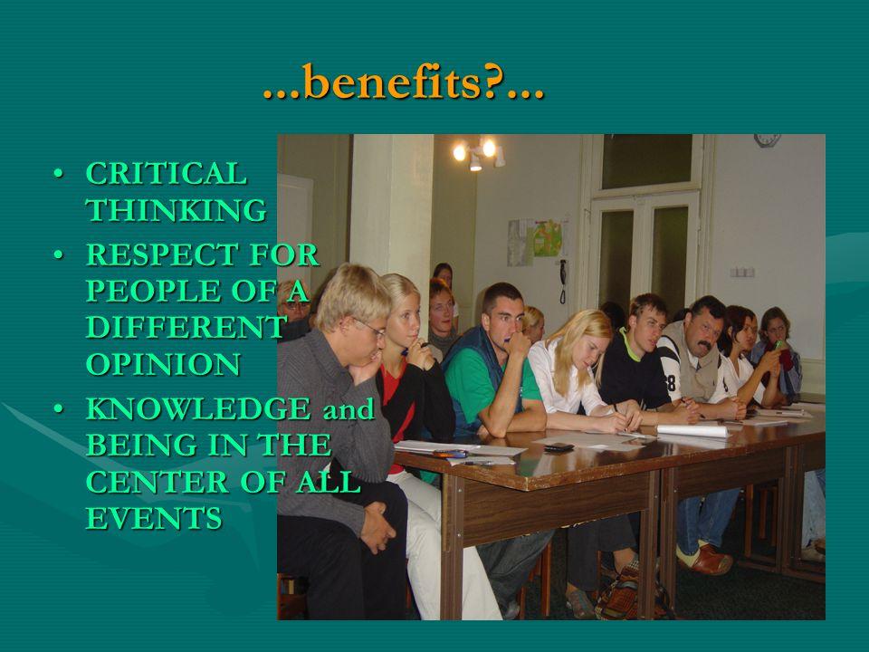...benefits ...