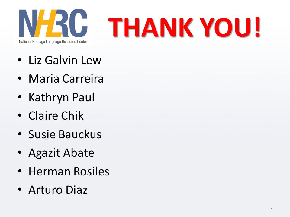 And more THANK YOU! All Presenters All Participants 4