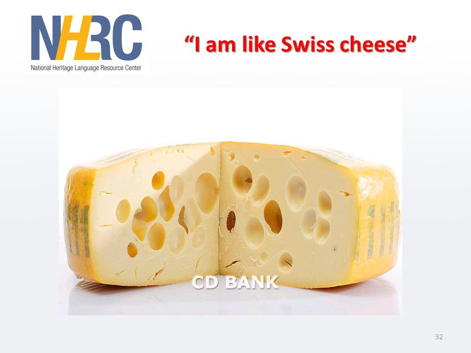I am like Swiss cheese 32