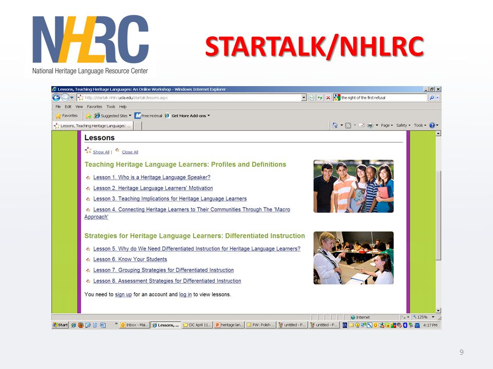 STARTALK/NHLRC 9