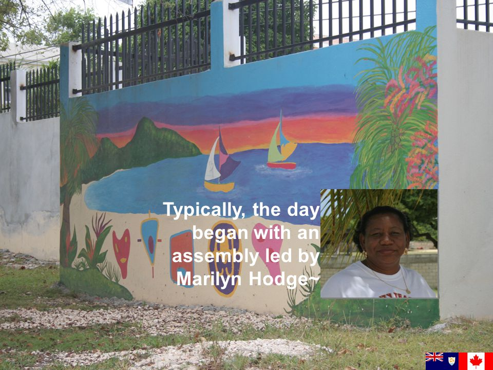 Typically, the day began with an assembly led by Marilyn Hodge~