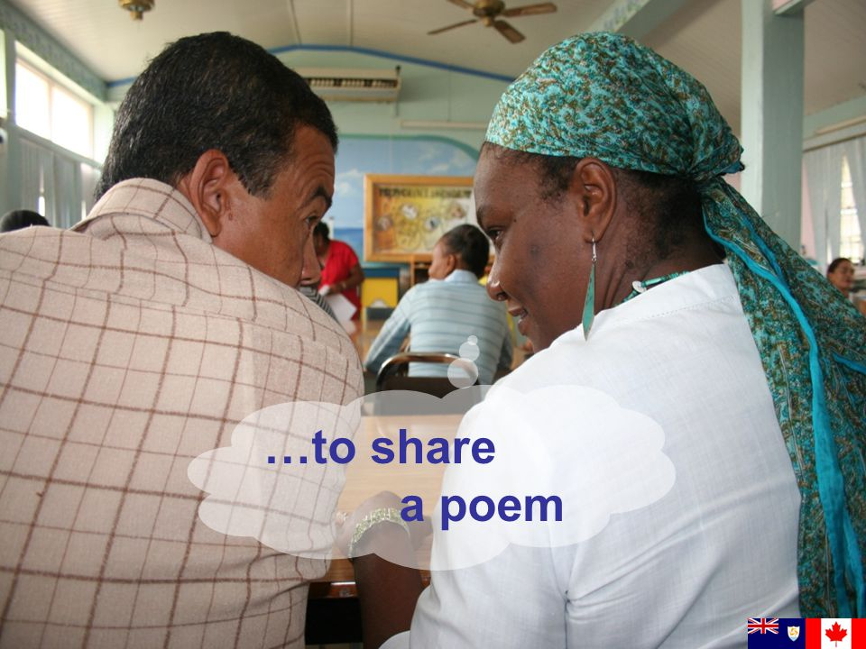 …to share a poem