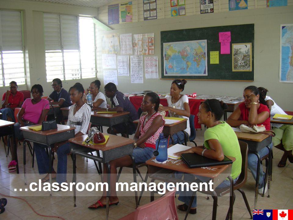 … classroom management