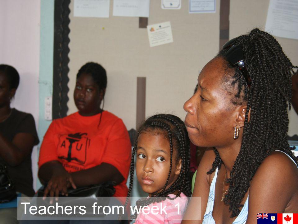 Teachers from week 1