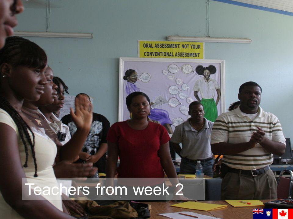Teachers from week 2