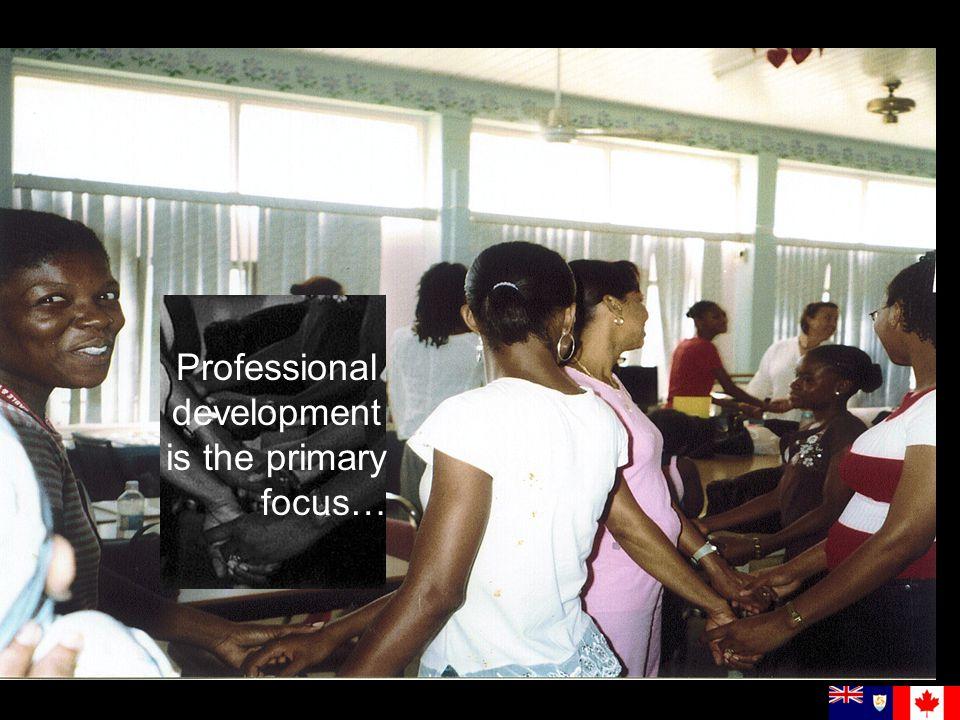 Professional development is the primary focus…
