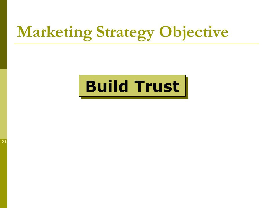 21 Marketing Strategy Objective Build Trust