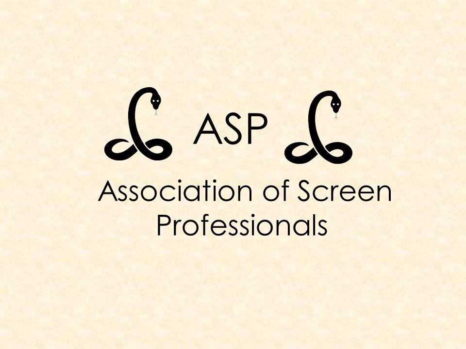 ASP Association of Screen Professionals