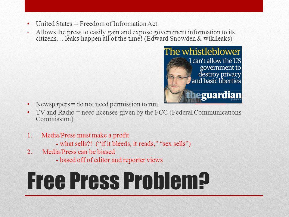 Free Press Problem.